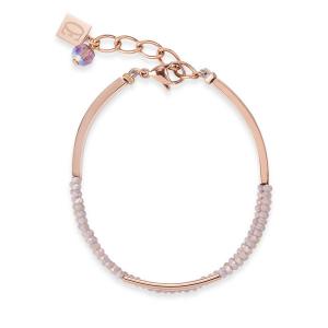 Coeur De Lion Armband - Glas Nude - Stahl Rosé